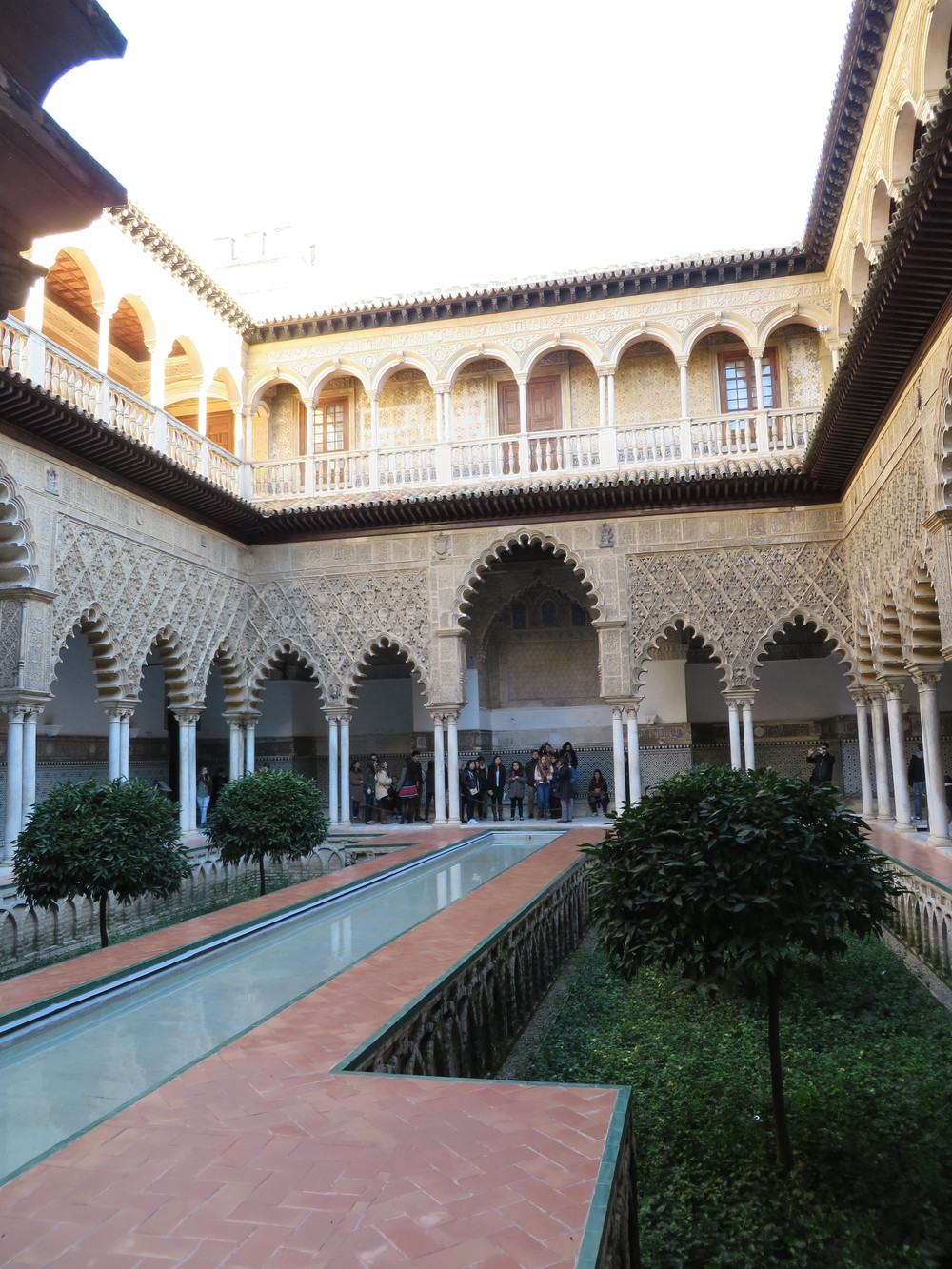 A pool in the Alcazar Real