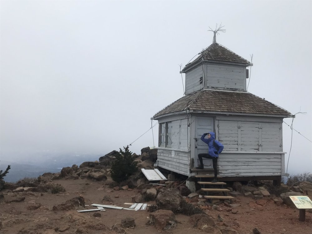 Cupola Lookout House at the summit of Black Butte. Photo by Alyx Kruger
