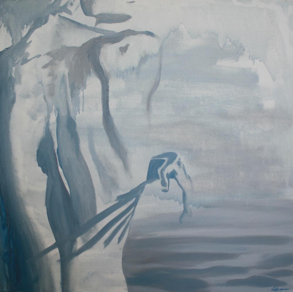 """YO SOY EL MAR    36"""" x 36"""" oil on canvas"""