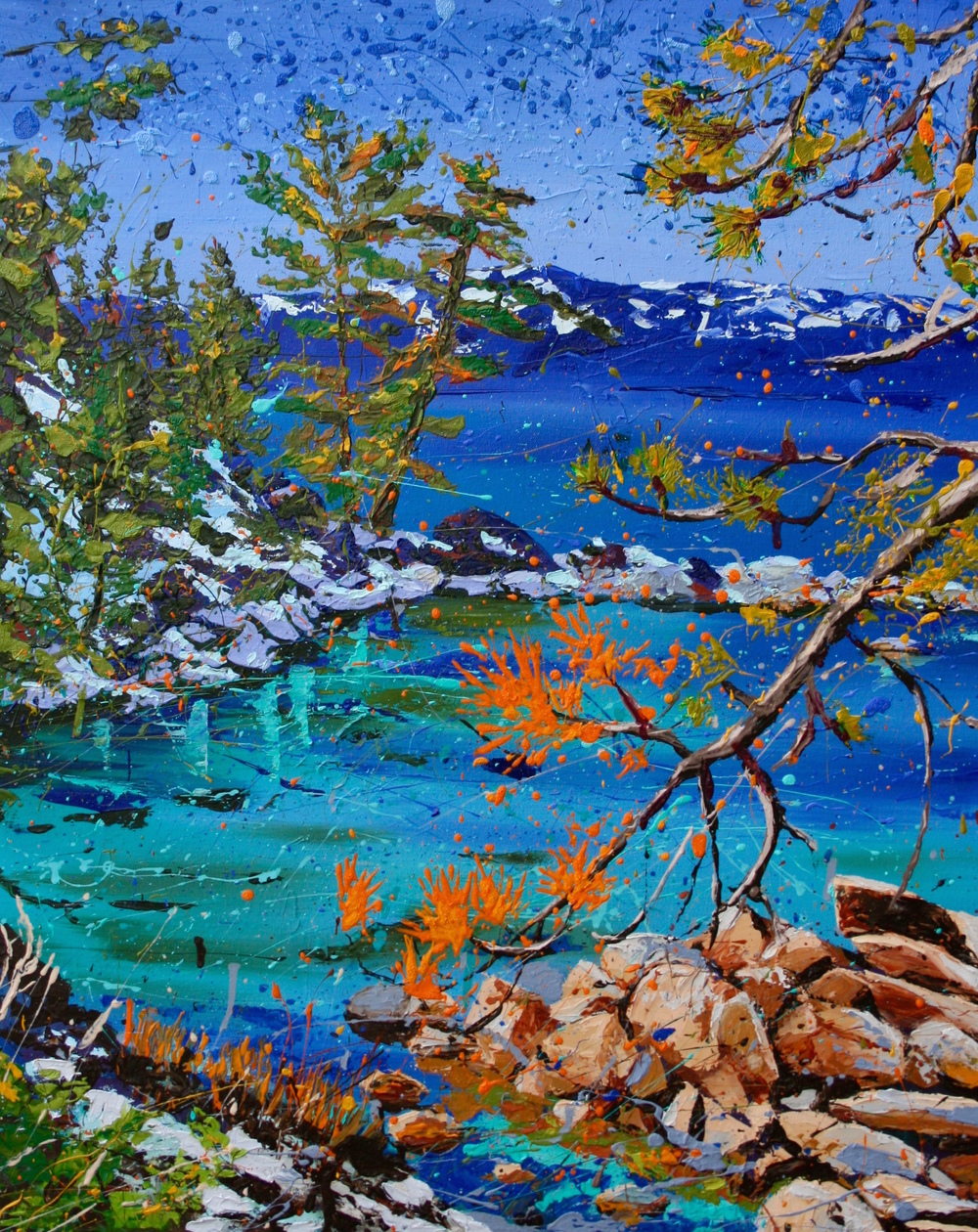 "CHANGE OF SEASONS  24"" x 30"" oil on canvas $1200"