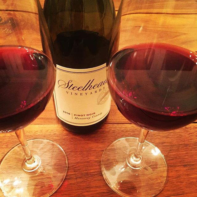 It's Saturday Night! #saturdaynight - #pinotnoir - #steelhead #wine