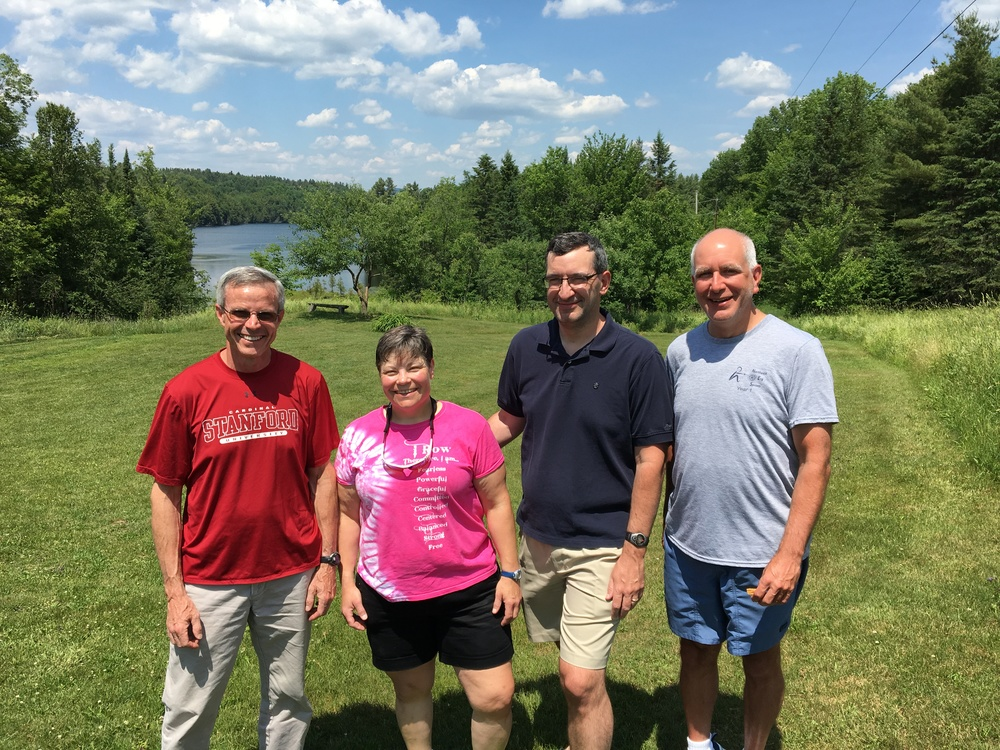 4 of WLCC's masters rowers at Craftsbury Sculling Center.