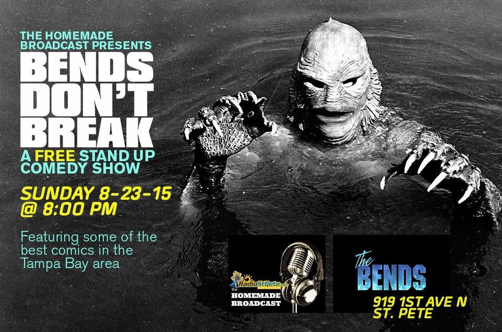 """BENDS DON'T BREAK hits The Bends this Sunday 8/23 ft Kyle Ruse, Amanda Jordan, Andrew Silas, Nina Ramdat & Jake Barsness.  This is a FREE show and it's early, start time at 8PM.  RSVP HERE: https://www.facebook.com/events/1633858736875598/"