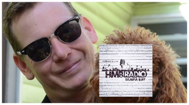 Creative Loafing Tampa Editor & Chief Scott Harrell with a dog, name of Bartleby, official mascot of HMBradio.com!
