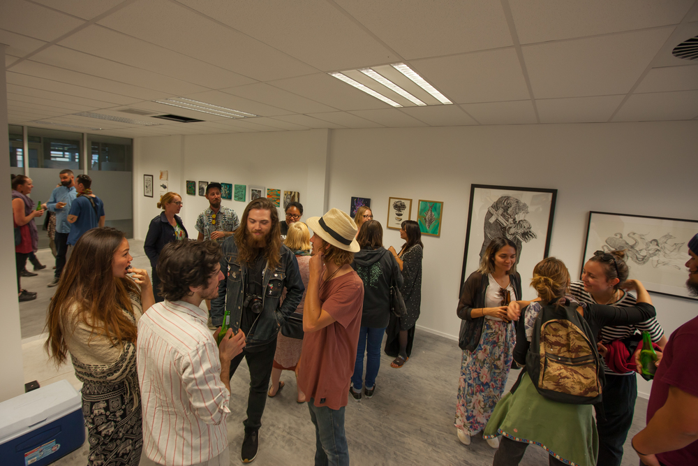 Sea Walls Art Exhibition Opening Night.