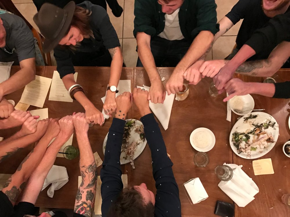 The longest shaka in history to celebrate our sustainable food victory and full bellies!