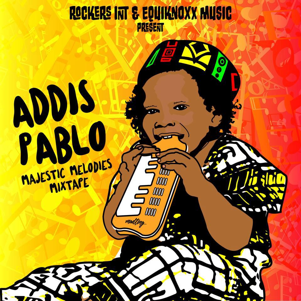 ADDIS PABLO RISING INTO THE SUN WITH MAJESTIC MELODIES:  Addis Pablo Releases his solo mixtape project trumping his next album release through VP Records later this 2017. Addis Pablo is carrying his melodica everywhere he goes from Kingston to Japan. Album cover art features his childhood photo turned into graphic by Jamaican artist,  Ma'ting       LISTEN HERE:  MAJESTIC MELODIES