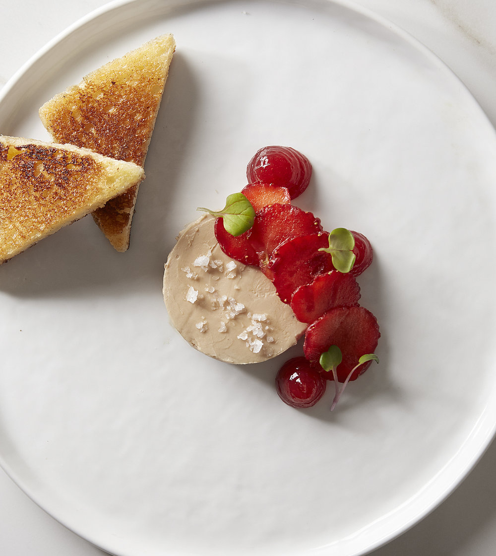 Duck & Chicken Pate- Stawberries & Broiche