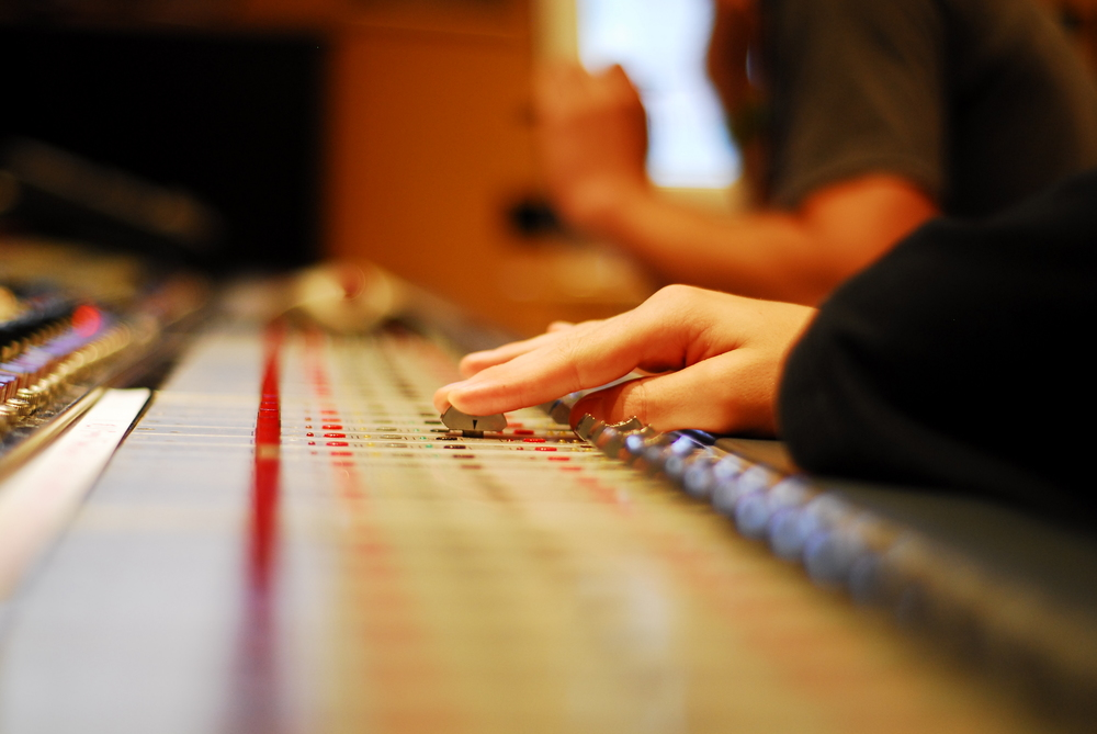 Audio Engineering & Music Production Career Track Campers collaborate during a mixing session