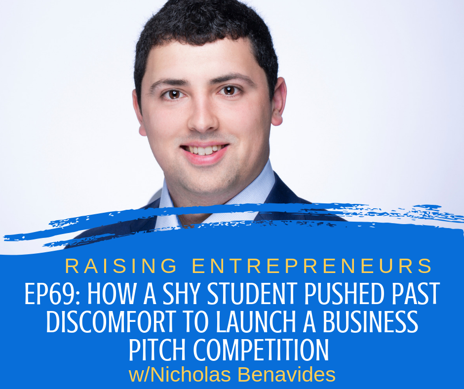 How a Shy Student Pushed Past Discomfort to Launch a Business Pitch Competition - Click the image on the left to listen to Nicholas Benavides discuss how and why he formed the Blue Ocean Student Entrepreneur Pitch Competition and his vision for the future.