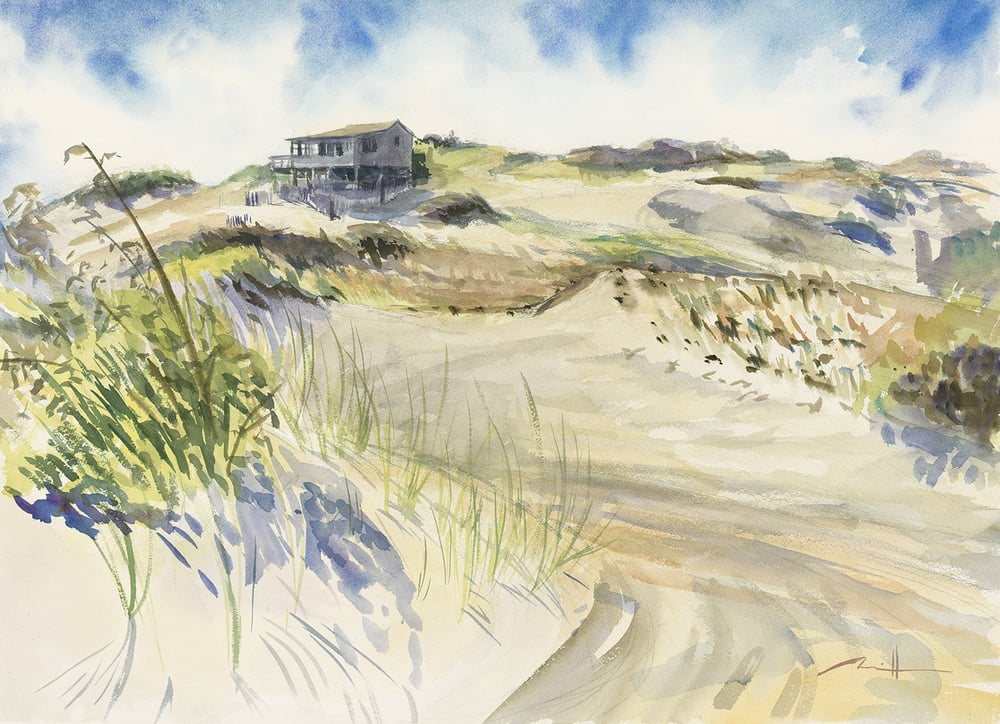 "Ray Wells' Shack  22"" x 30"" watercolor on paper"