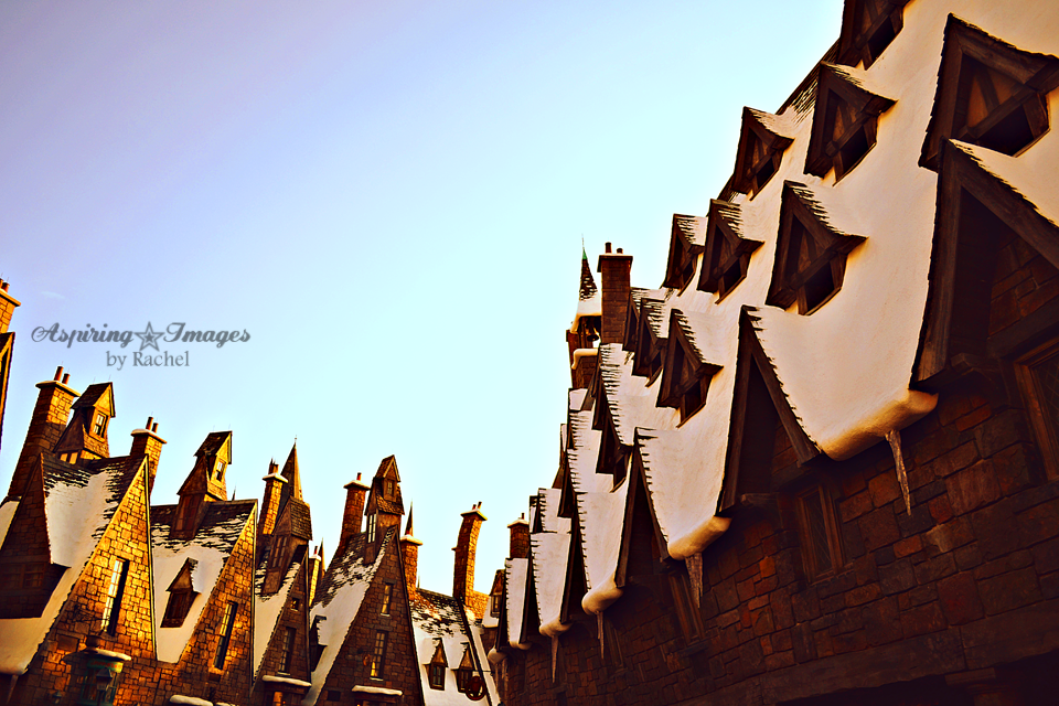Islands of Adventure Harry Potter - Hogsmeade Entrance - Hogsmeade Snow Topped Buildings by Aspiring Images by Rachel