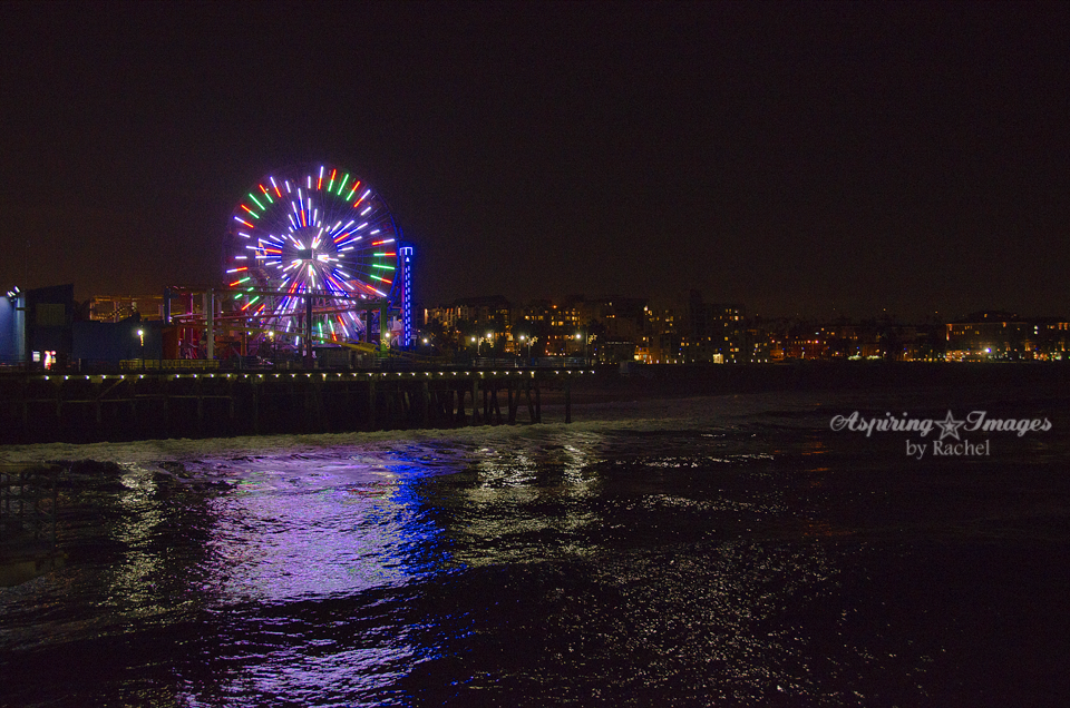 California - Santa Monica Pier - Ferris Wheel and Beach by Aspiring Images by Rachel