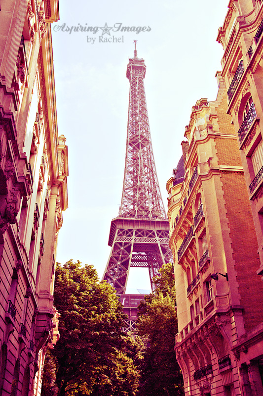 Paris - Eiffel Tower In Neighborhood by Aspiring Images by Rachel