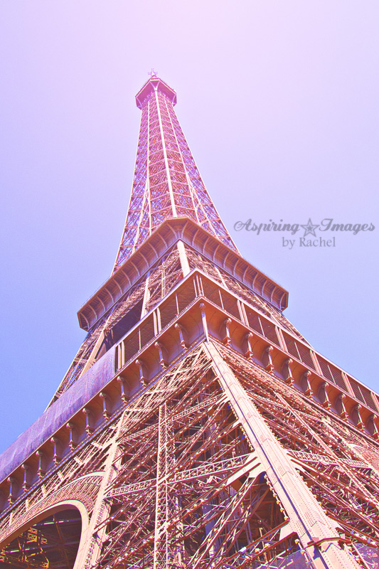 Paris - Eiffel Tower Looking Up Side by Aspiring Images by Rachel
