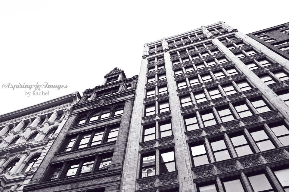 NYC-Buildings-Facades-FourAtAngle-BnW