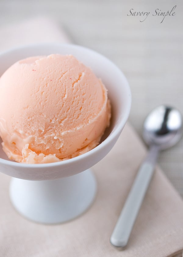 Grapefruit curd ice cream | Savory Simple
