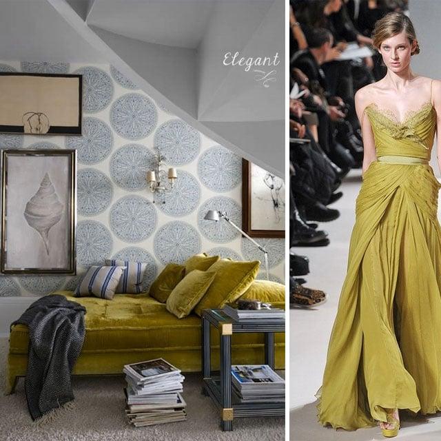 chartreuse elegant home interior #inspiration