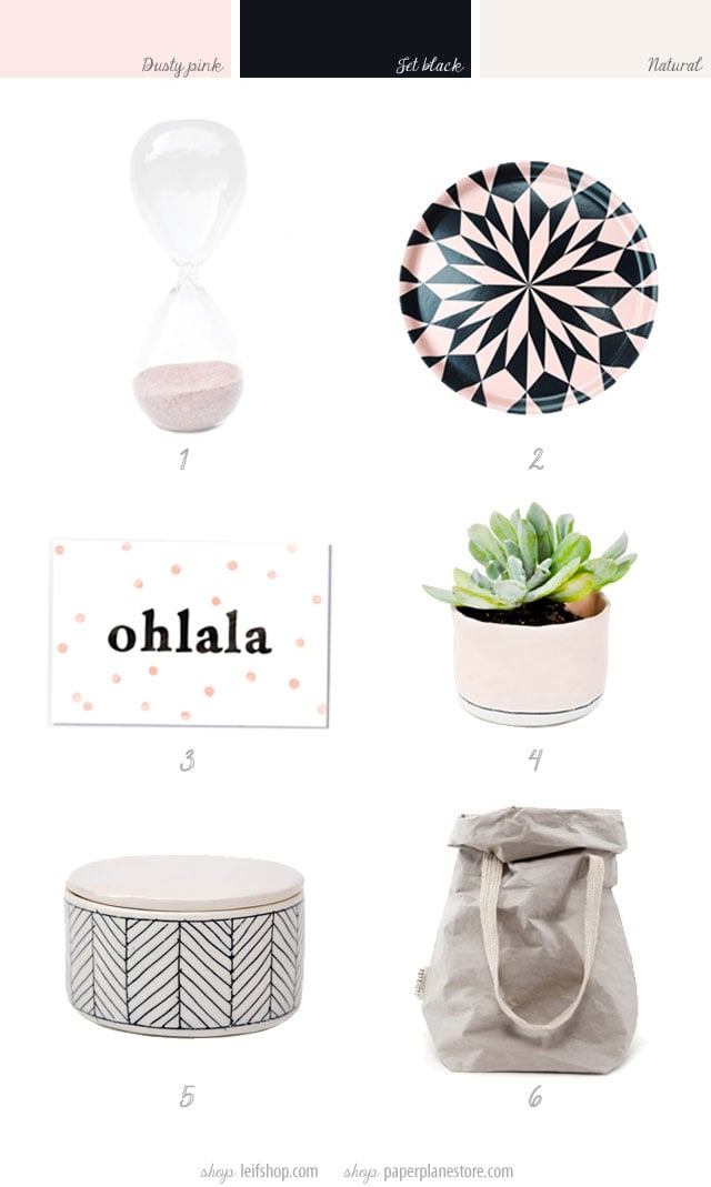 dusty pink home products