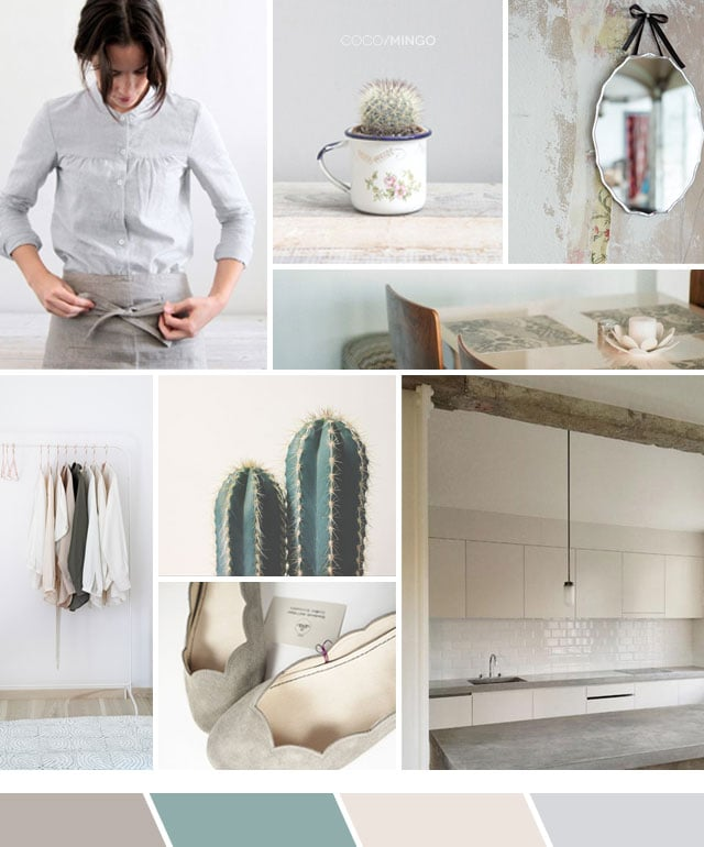 Taupe grey inspiration board via Coco & Mingo #neutrals