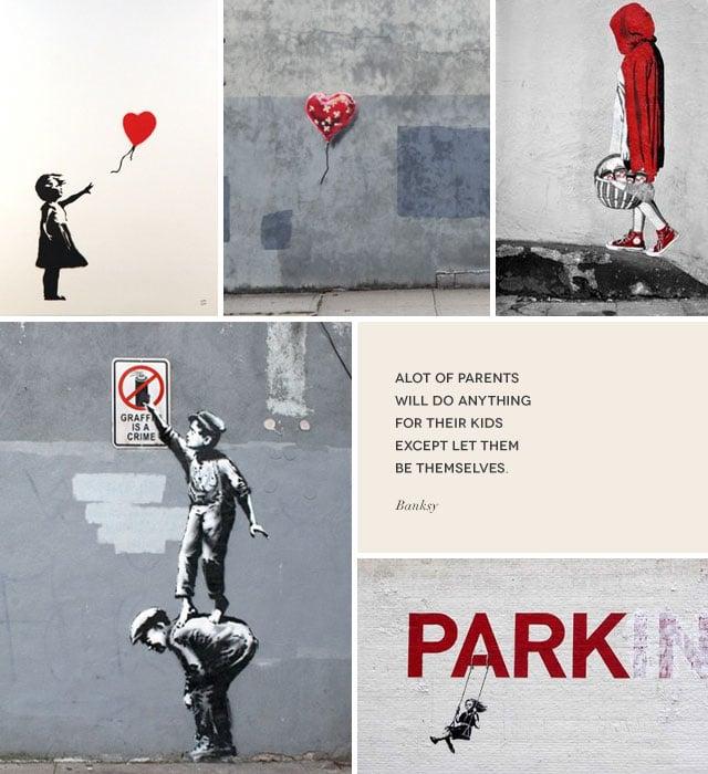Banksy street art, new york city, coco and mingo