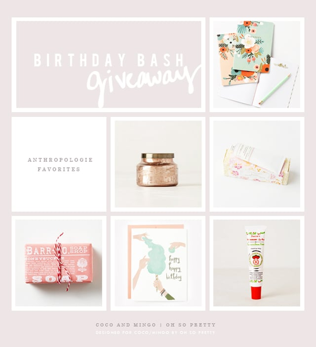 Birthday Bash Anthropologie giveaway via Coco and Mingo