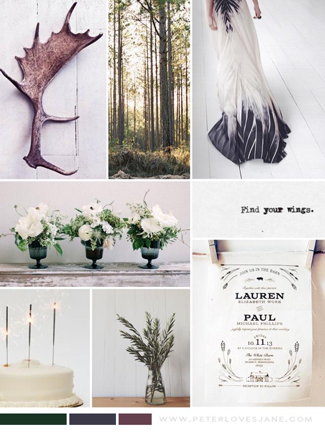 Peter Loves Jane_woodland wedding inspiration board