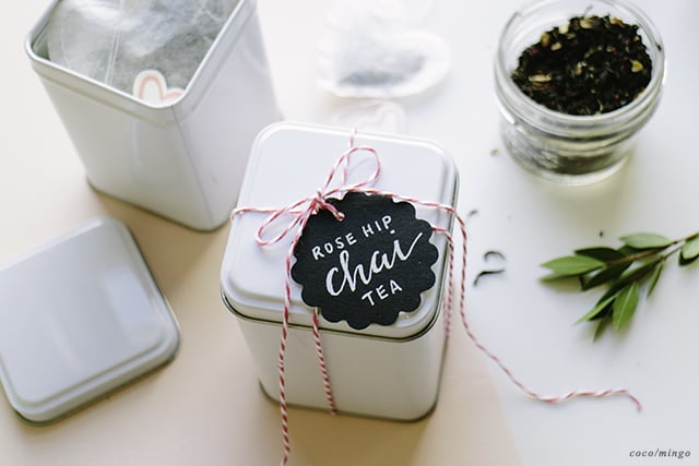DIY_heart tea packaging