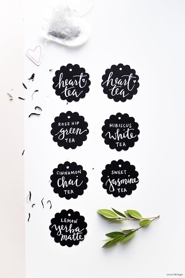 DIY_heart tea labels