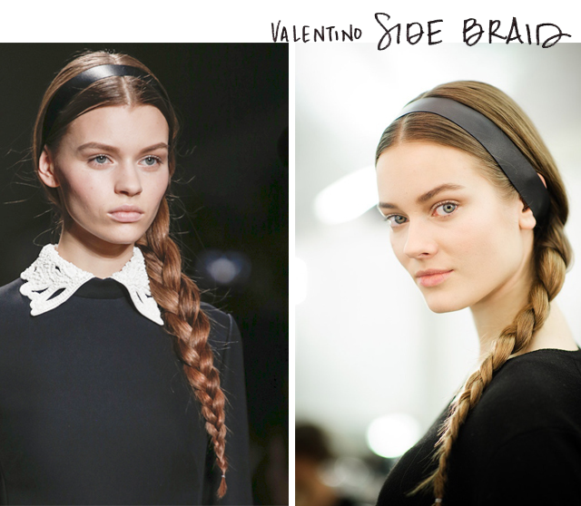 Marks and Spencer_Grammy red carpet hair_Valentino side braid