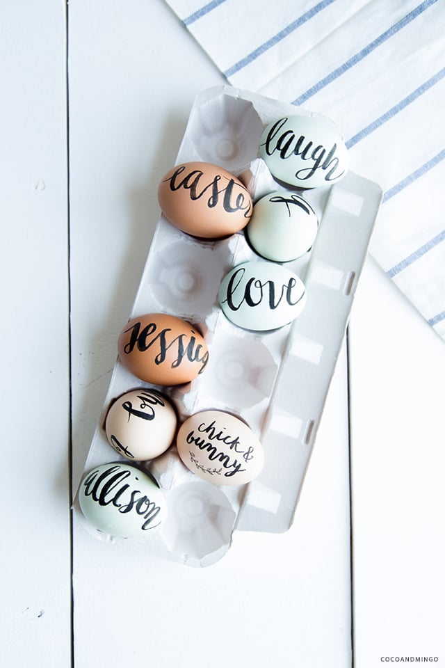 Easter 2015, painted eggs, calligraphy, gift giving, DIY Easter eggs