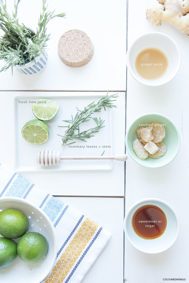 Ginger rosemary zinger, summer drink recipes