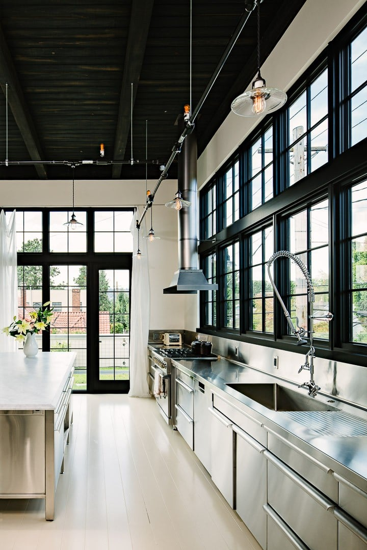 industrial loft design, Portland Oregon