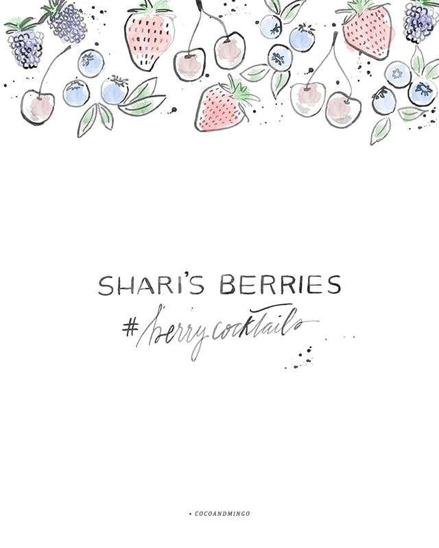 Shari's Berries, berry cocktails, Summer cocktails