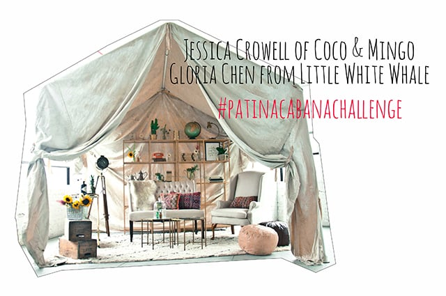 patina cabana challenge, rent patina, cabana challenge, little white whale, vintage rentals, once upon a cabana