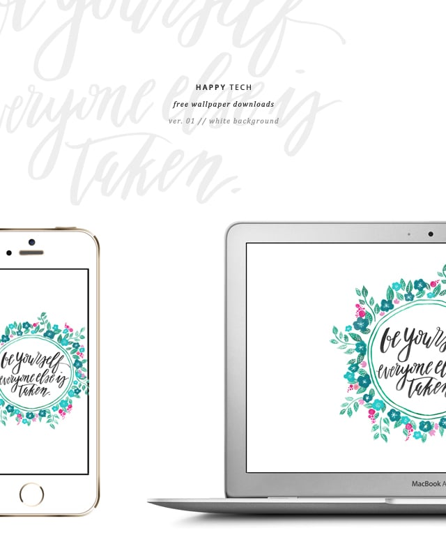 free wallpaper, free downloads, free desktop wallpaper, freebies, This Little Street, Happy Tech, hand lettering, calligraphy, watercolor