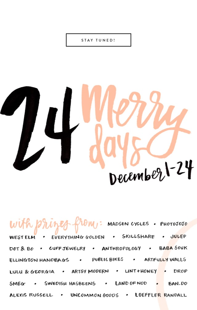 24 Merry Days, giveaway, holidays, Christmas, freebies