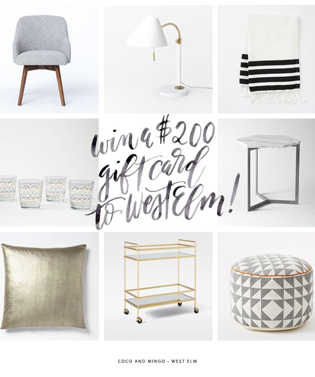 West Elm, home decor, giveaway, freebies