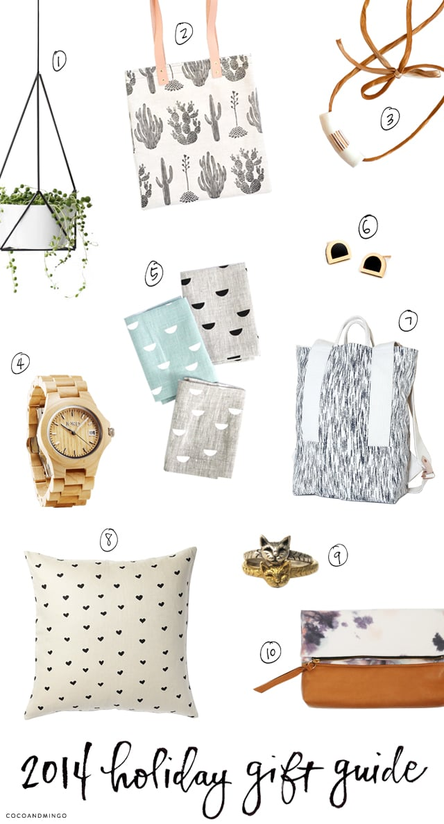 Holiday gift list, 2014, wish list, leif shop, artsy modern, lint and honey, jord watches, hruskaa, a mano, nell and mary, everything golden, christmas gifts, shop small businesses, local businesses