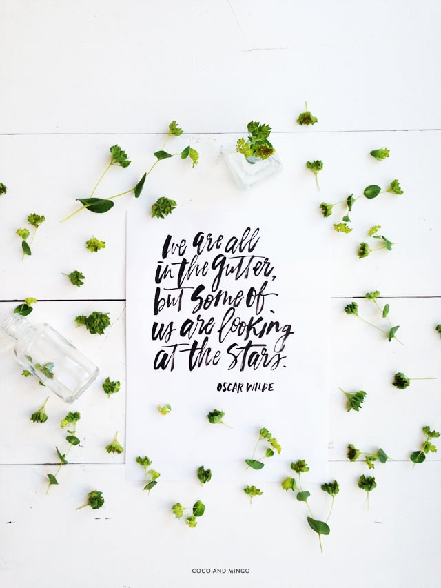 Oscar Wilde quotes, hand lettering, brush lettering, Friday favorites, inspirational quotes, motivational, calligraphy