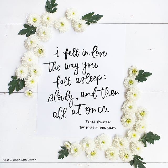 Lyst, quotes, inspirational quotes, hand lettering, calligraphy, brush lettering, Instagram, Wedding quotes, love quotes
