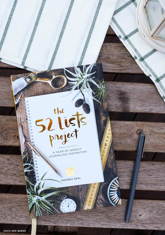 52 Lists project, Moorea Seal, Sasquatch books, hand lettering, weekly journal, inspiration,