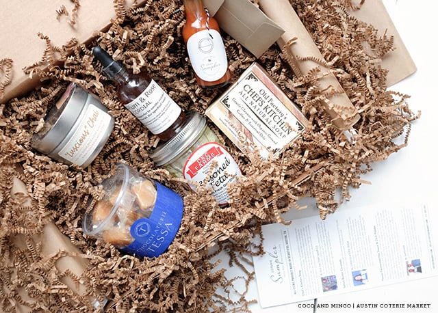 Austin, Texas, Austin Coterie Sampler, Austin-made, food, beverage, crafts, monthly subscription box, gourmet foods