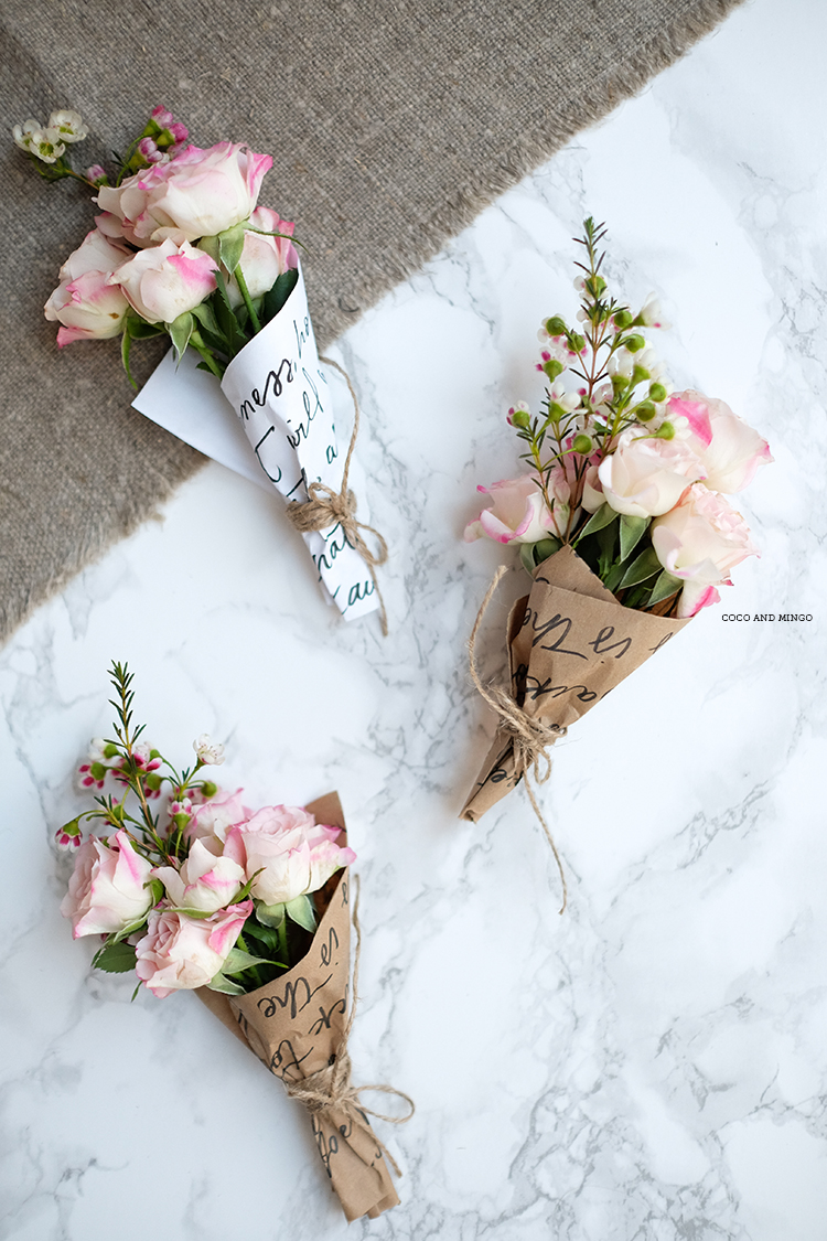 Diy easter mini floral bouquets free printable wrapping the what are your plans for easter sunday izmirmasajfo