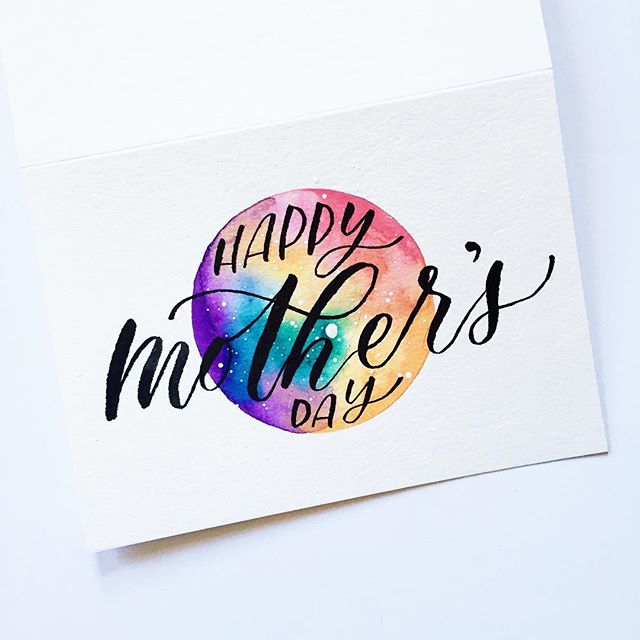 To all the amazing Mamas out there in every which way, shape, and form! 🙌🏽🌈 • #mothersday #happymothersday #goodvibes #lettering #calligraphy #calligrafia #brushlettering #modernlettering #moderncalligraphy #inspiration #motivation #goodtype #typography