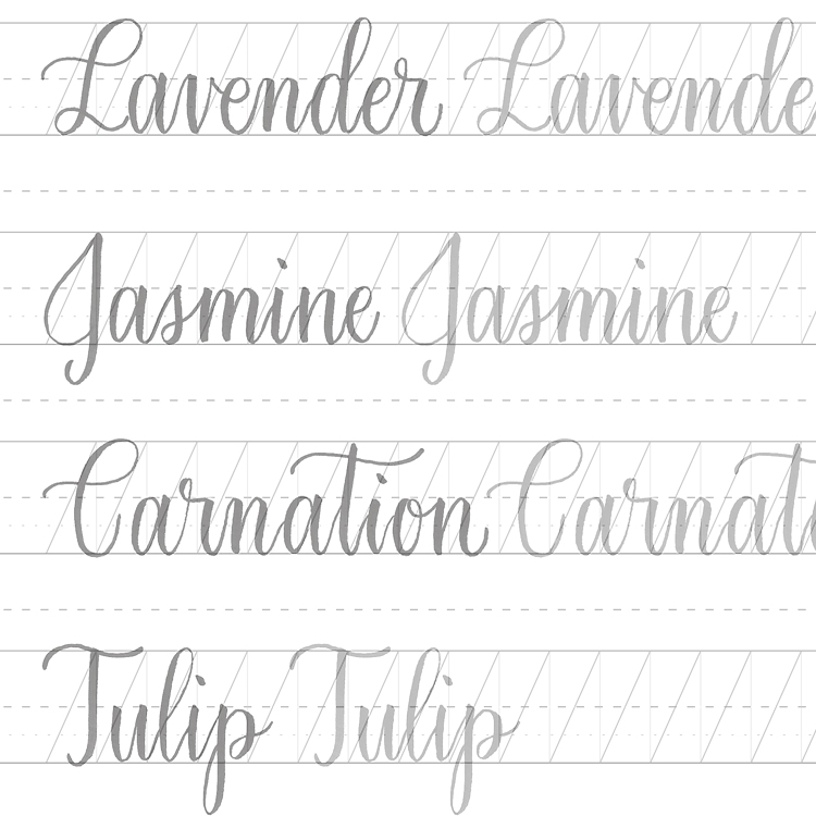hand lettering practice sheets pdf
