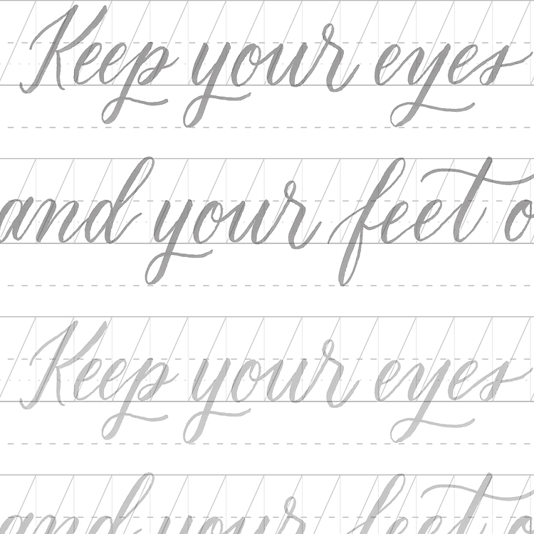 Receive An Instant Digital Download Of These Brush Lettering Practice Sheets Focusing On Connecting Letters To Form Words Perfect For Beginners Or Anyone