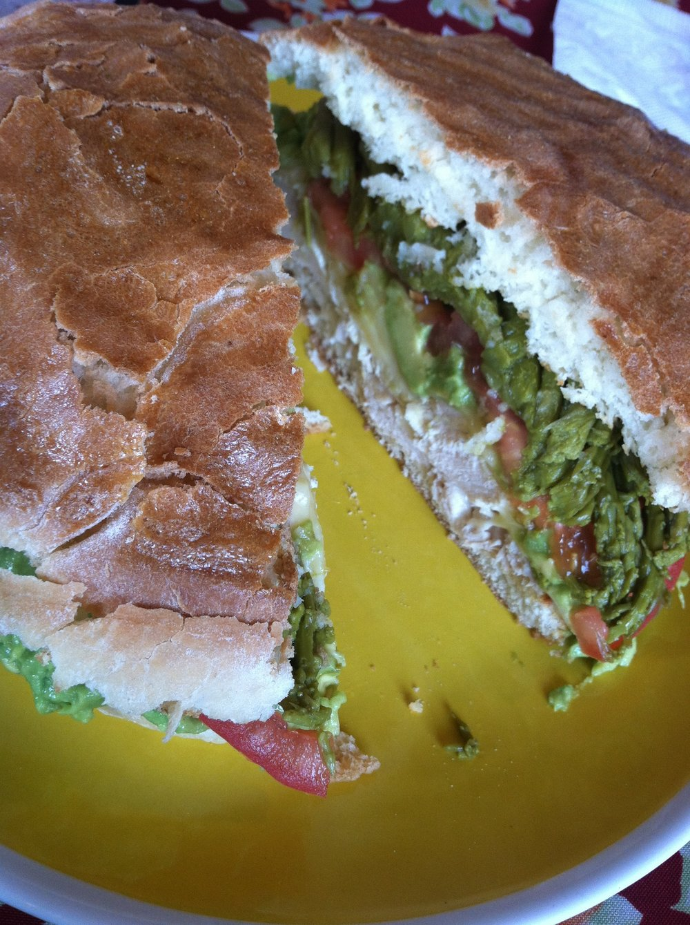 sandwich from cafe immigrante punta arenas, chile