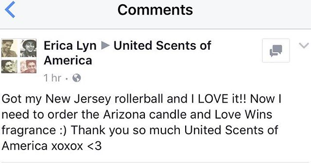We love our customers! Check out this testimonial from the lovely Erin 💕 and that's why we're offering 20 % off all NJ Fragrances!! Use code NJLOVE. You're going to love it notes including buttered popcorn, cotton candy and vanilla.  If you love gourmand fragrances you'll love our NJ! 🍭🍭🍭🍭