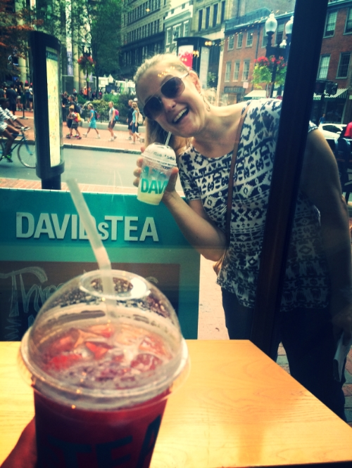 DAVIDsTEA is a great stop along the Freedom Trail!  #DAVIDsTEA